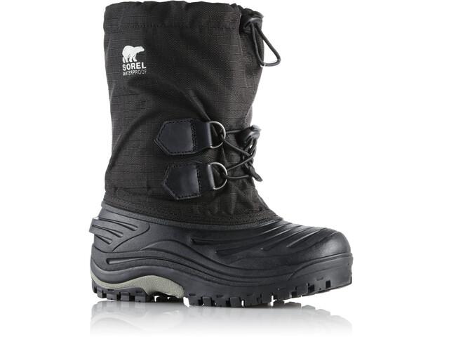 Sorel Super Trooper Boots Kinder black/light grey